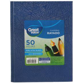 Cuaderno-Great-Value-Tapa-Dura-Araña-16x21-50-Hj-Rayado-Azul-1-35530
