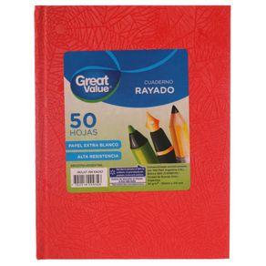 Cuaderno-Great-Value-Tapa-Dura-Araña-16x21-50-Hj-Rayado-Rojo-1-35531