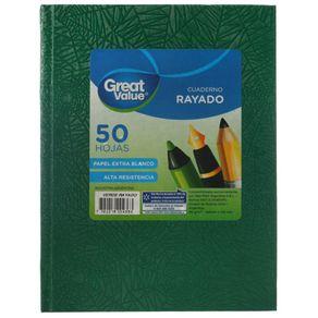 Cuaderno-Great-Value-Tapa-Dura-Araña-16x21-50-Hj-Rayado-Verde-1-35532