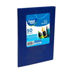 Cuaderno-Escolar-Tc-19x23-Rayado-Azul-Great-Value-50-Hojas-1-36885