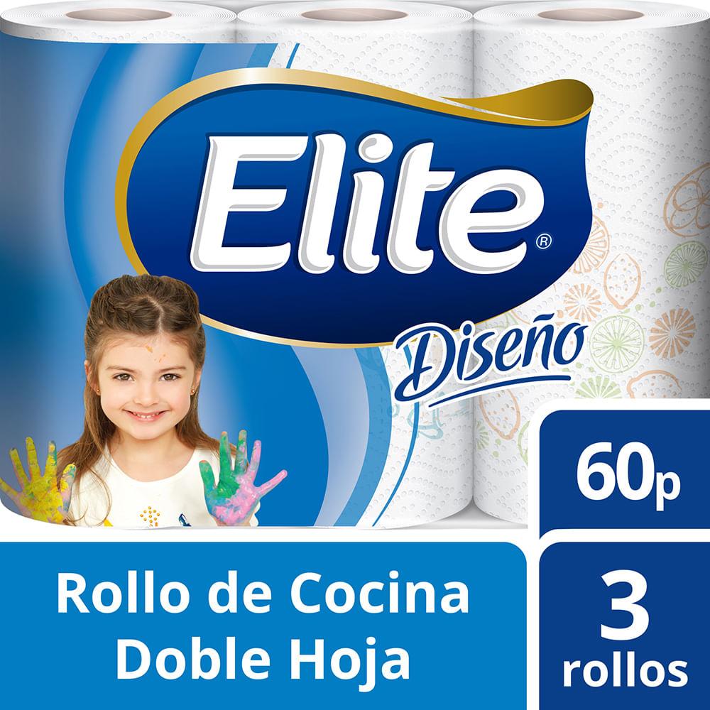 Rollo de cocina Elite 60 paños 3 rollos