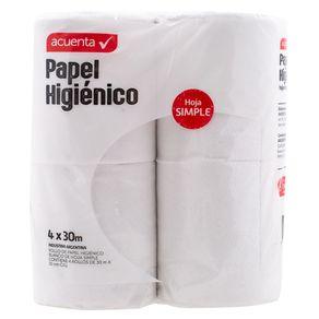 Papel-Higienico-Hoja-Simple-Acuenta-4x30-Mts-1-362599