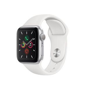 Apple-Watch-Series-5-Gps-Caja-De-Aluminio-Plateado-De-40-Mm-Con-Correa-Deportiva-Blanca-1-476598